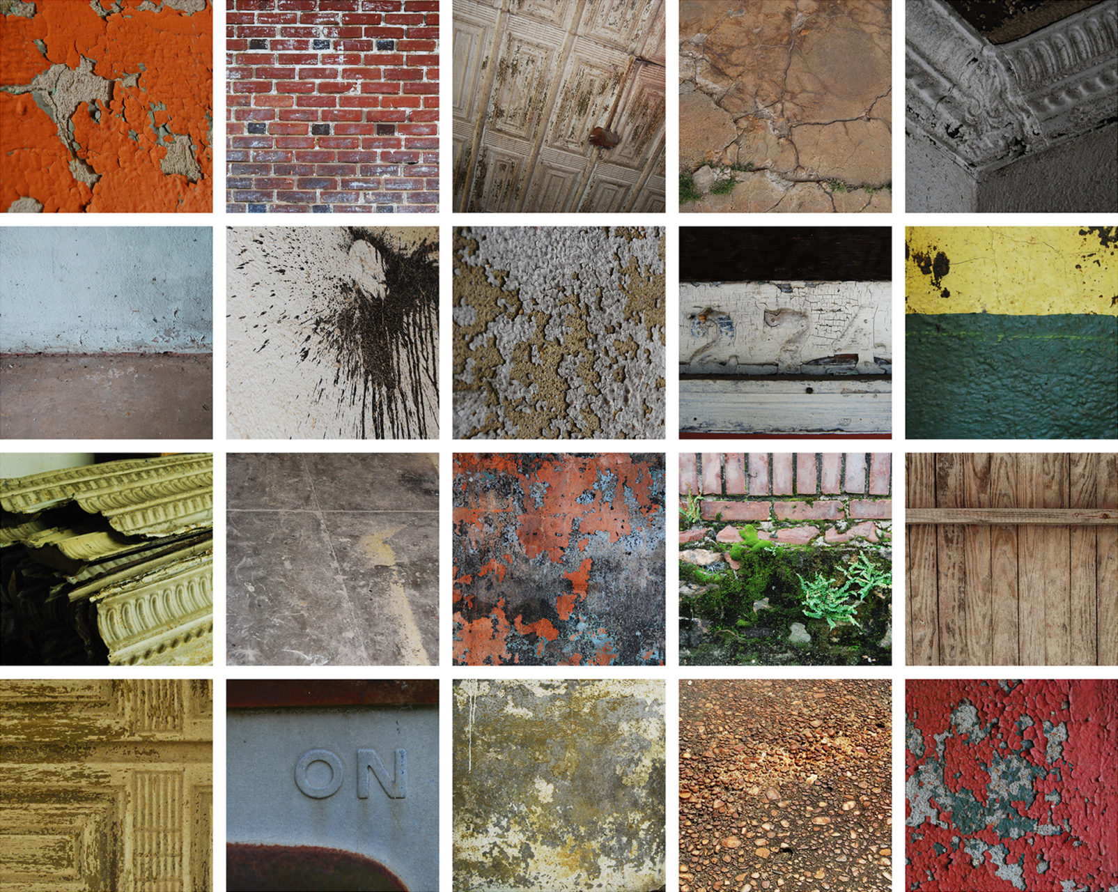 rich palette of existing textures